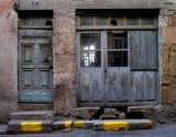 Store Front with Yellow Marks