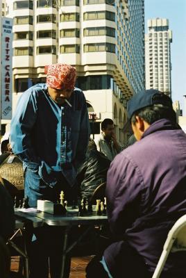 san fran vietnam vets playing chess