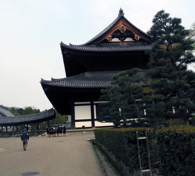 School Girls Visiting Zen Temple