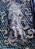 Temple Gate Metal Portrait of Krishna