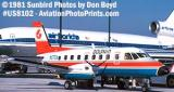 Prints and slides Gallery of Dolphin Airways stock photo