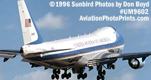 USAF VC-25A (747-2G4B) Air Force One 82-8000 departure aviation stock photo #UM9602