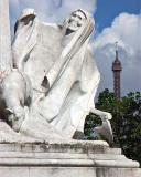Monument to Pasteur and Eiffel Tower