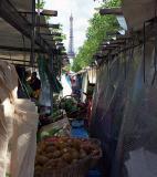 Market near the Eiffel Tower