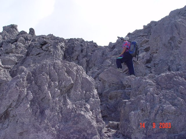 Merapi Just about the summit