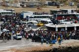 Crowd at the ferry terminal, Mykonos