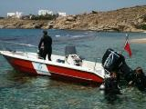 Boarding the dive boat