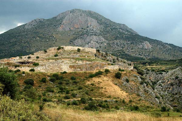 Mycenae (Mikines) the city of Agamemnon had already been in ruin for 700 years during the Golden Age of Athens