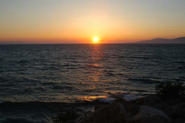 Sunset with Tinos
