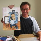 Al with Eddie's Painting
