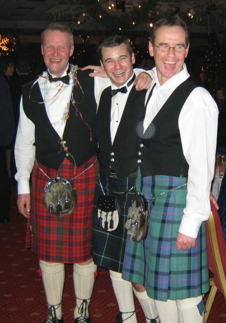 James Colin and Al in Kilts 2003