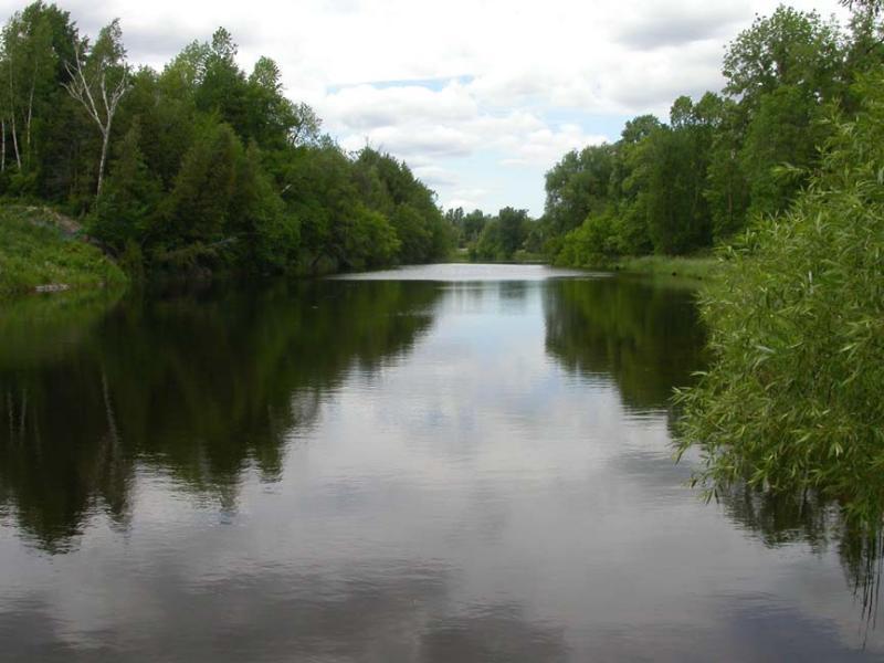 Reach on Jock River above Hearts Desire dam