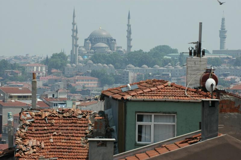 Istanbul view from Selimiye Mosque Suleyman Mosque University Tower