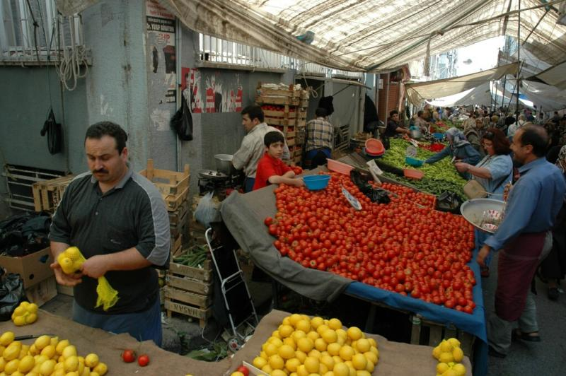 161 Istanbul  Market day at Fatih Mosque june 2004