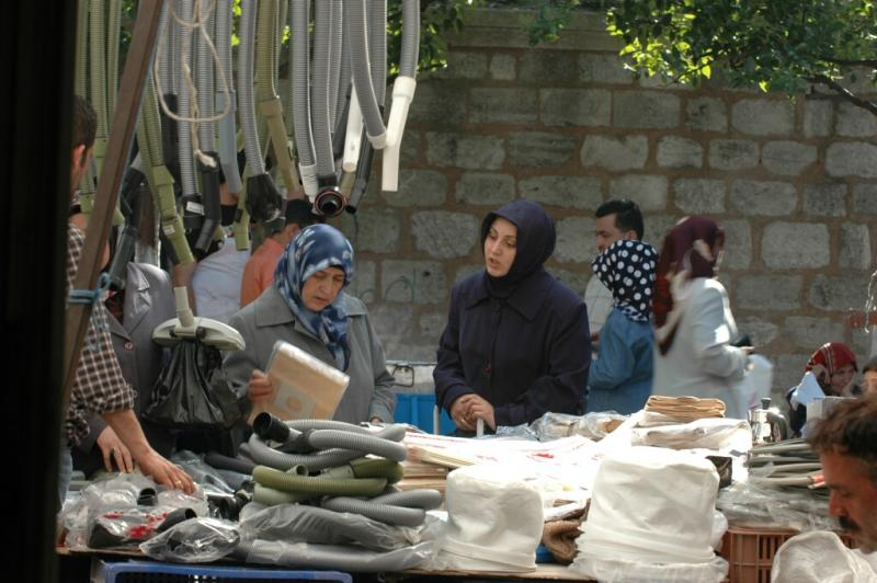 196 Istanbul  Market day at Fatih Mosque june 2004