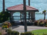 The gazebo at Shore Cliff Lodge, Pismo Beach, California