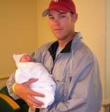 Jarrod with 1 hour old Brooks