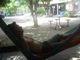 me relaxing in La Libertad, El Salvador