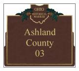 Ashland County Historical Markers