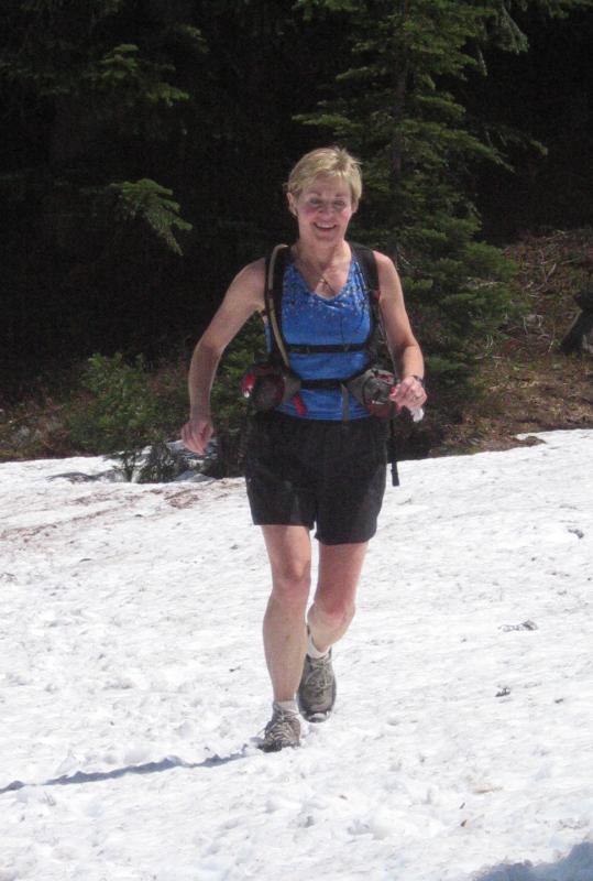 Marlis return trip on the snow
