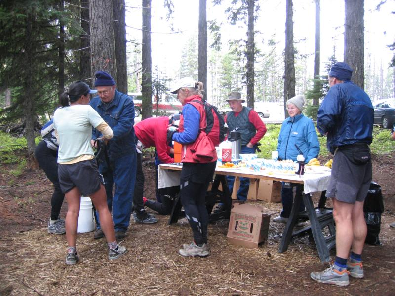 Aid Station #1 at mile 12