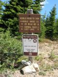Sign between Noble Knob & Corral Pass