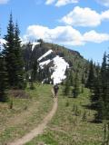 Tony runs toward Corral Pass