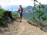 Tony on the long climb to Fawn Ridge