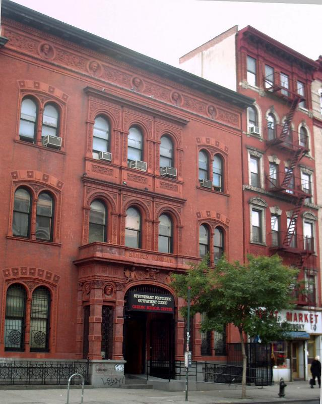 Public Library &  Outpatient Clinic on 2nd Avenue above 8th Street