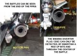 ENDS OF PIPES SHOWING BAFFLES, CLICK ON NEXT AT RIGHT FOR MORE INFORMATION