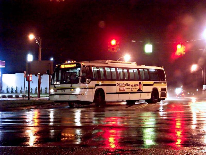 City Bus in the Rain