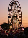 Wheel at dusk