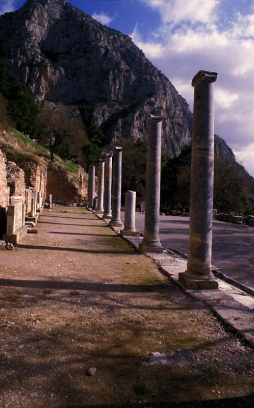 Columns Delphi, Greece