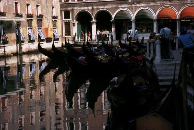 Gondola Rank Venice Italy