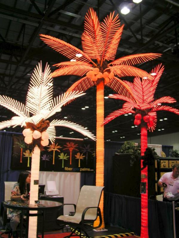 Lighted Palms...