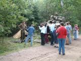 Demonstrating a big gun and a little tank