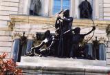 Sculpture in front of Quebec Legislature building