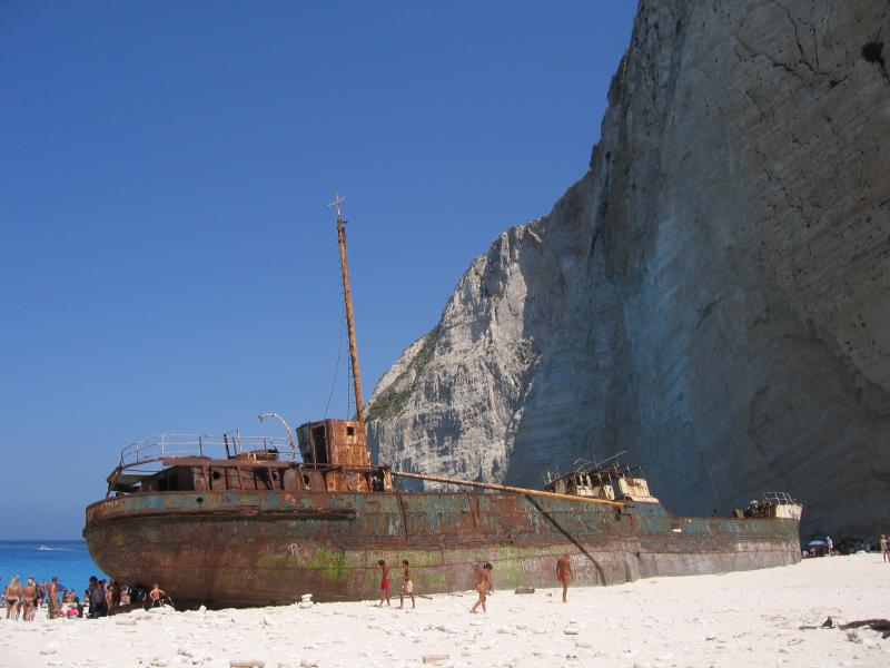 shipwreck at north of Zakynthos
