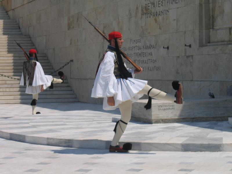 changing of guard at Parliament building in Athens