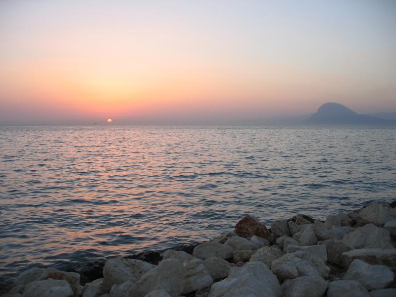 sunset in Patra, Peloponese peninsula