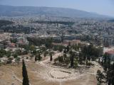 view from Acropolis onto Athens