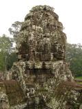 Huge carved faces of Avalokiteshvara