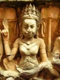Carved apsara (heavenly nymph or angelic dancer)