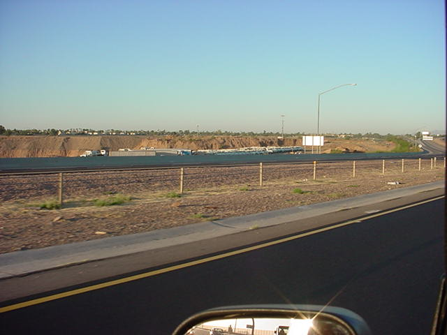 sand and gravel pit<br>westbound 202