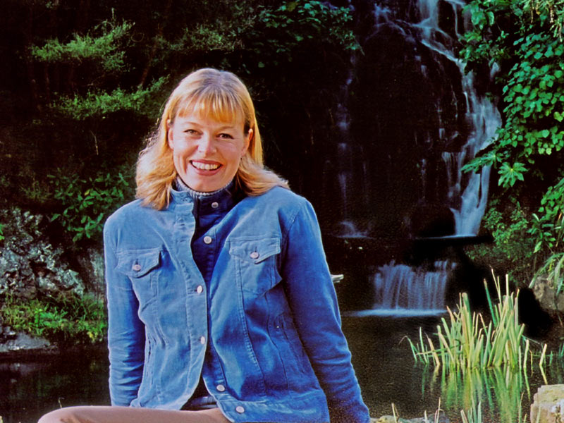 14 June 04 - Girl by Waterfall