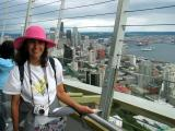 Donna on the Space Needle