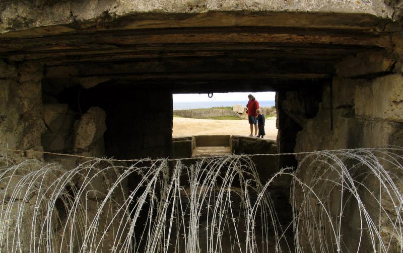 German Bunker, Pointe du Hoc, France, 2004