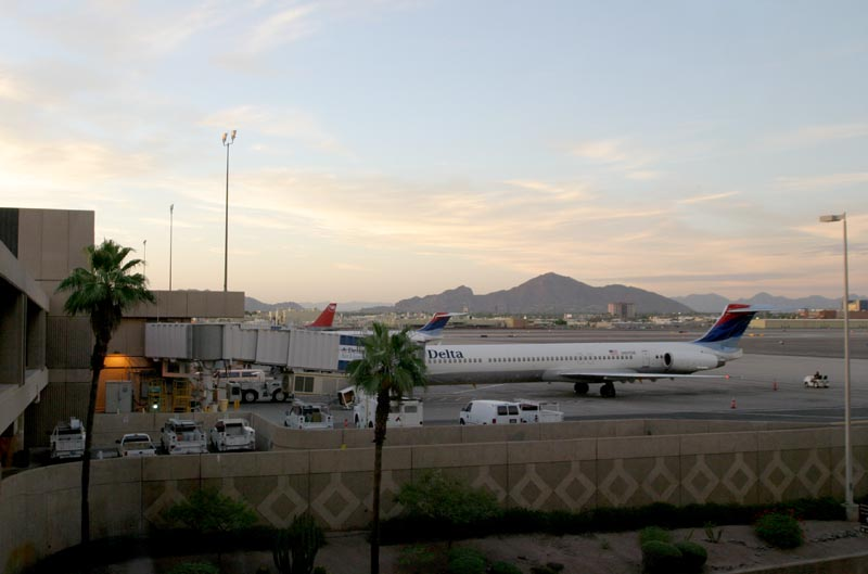Sunset at Sky Harbor International Airport