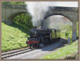Black Five Hauling Six Coaches Up 1:49 round a Tight Bend