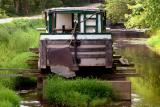 An old canal sightseeing barge
